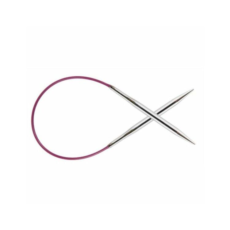 KnitPro Nova Metal - fix körkötőtű - fixed circular needle - 25cm - 4.5mm