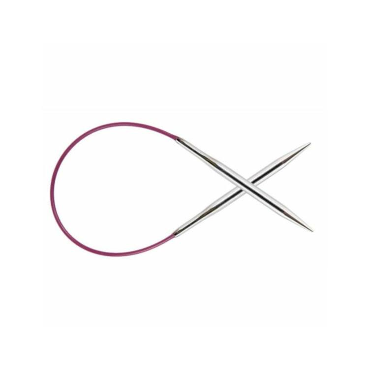 KnitPro Nova Metal - fix körkötőtű - fixed circular needle - 25cm - 4mm